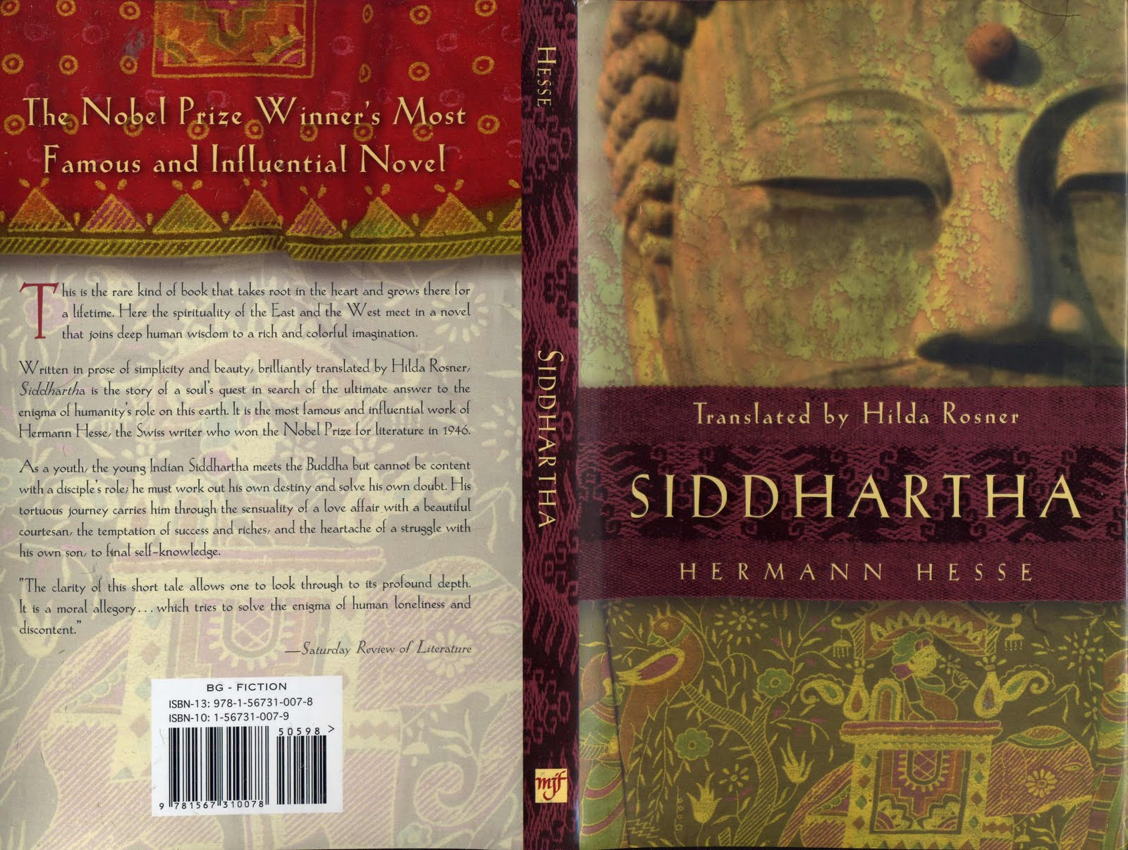 an assessment of the significance of the river in the book siddhartha by hermann hesse Siddhartha is an allegorical novel by hermann hesse which deals with the spiritual journey of an indian boy called siddhartha during the time of the buddha the book was written in german, in a simple, yet powerful and lyrical style.