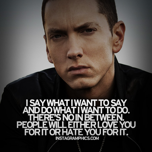 Quotes From Eminem On Haters Quotesgram