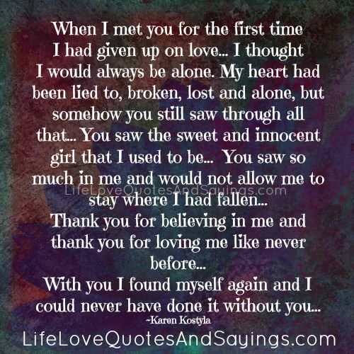 The First Time I Met You Quotes. QuotesGram