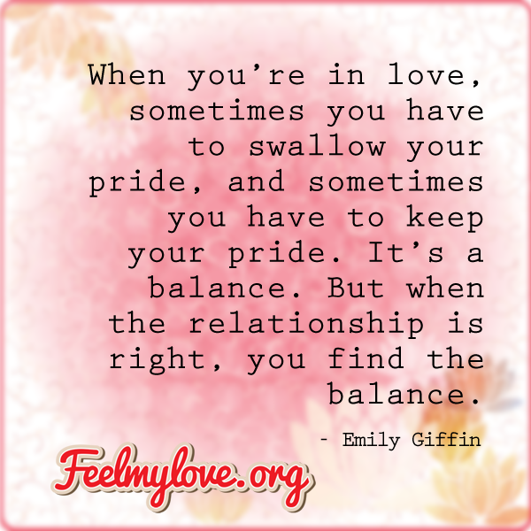 swallowing your pride in a relationship