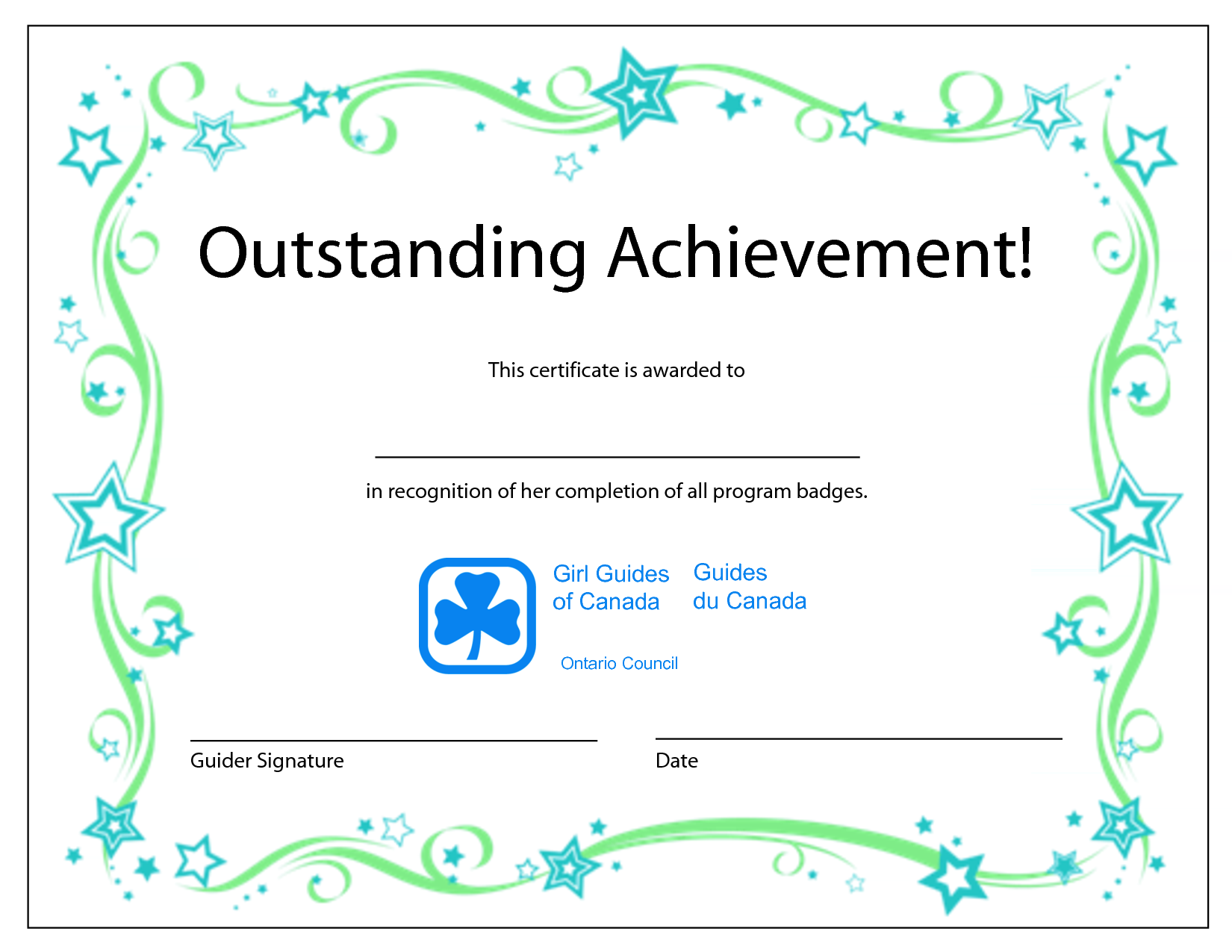 template for a certificate of achievement - award certificate quotes quotesgram