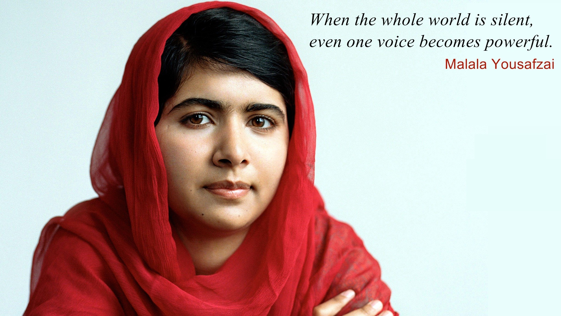 Malala Yousafzai Quotes on love quotes and sayings for her