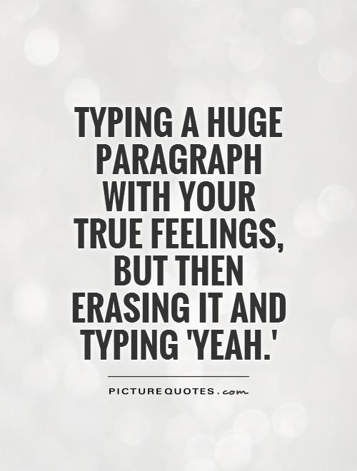 True Feelings Quotes. QuotesGram