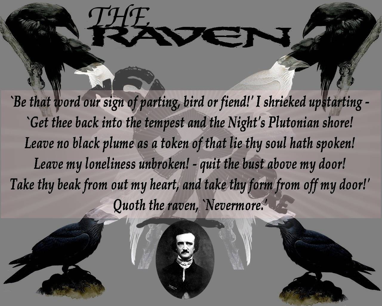 poes life reflected in the raven Edgar allan poe poe is as well known  he had a really tough life his parents died when he was younger they were actors  and the raven, never flitting,.