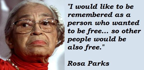 Rosa Parks Quotes Quotesgram