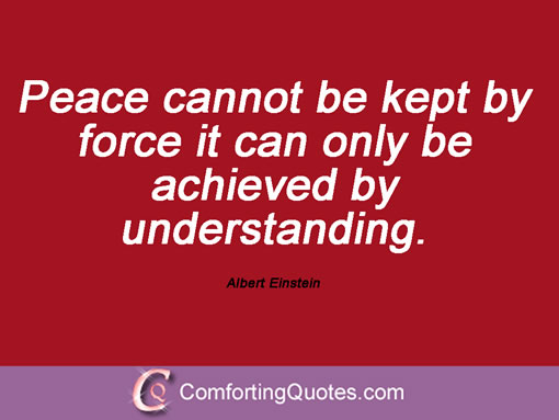 Albert Einstein Quotes Peace. QuotesGram