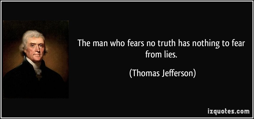 the fears of thomas jefferson When the people fear their government, there is tyranny when the government fears the people, there is liberty - thomas jefferson  thomas jefferson.