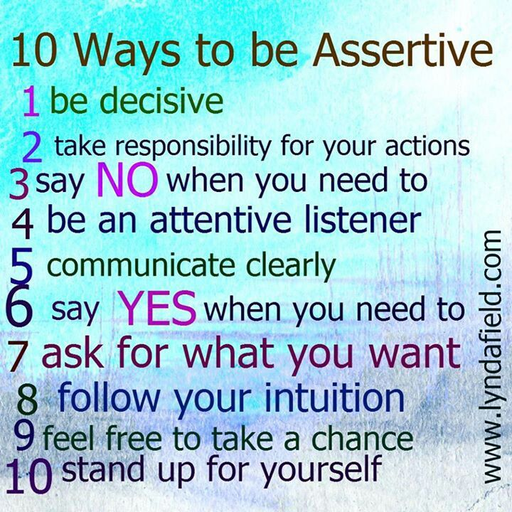 developing positive assertiveness Developing positive assertiveness will require you to look at things in a very particular way learn how to develop positive assertiveness in the workplace with help from an author, executive coach, and motivational speaker in this free video clip.