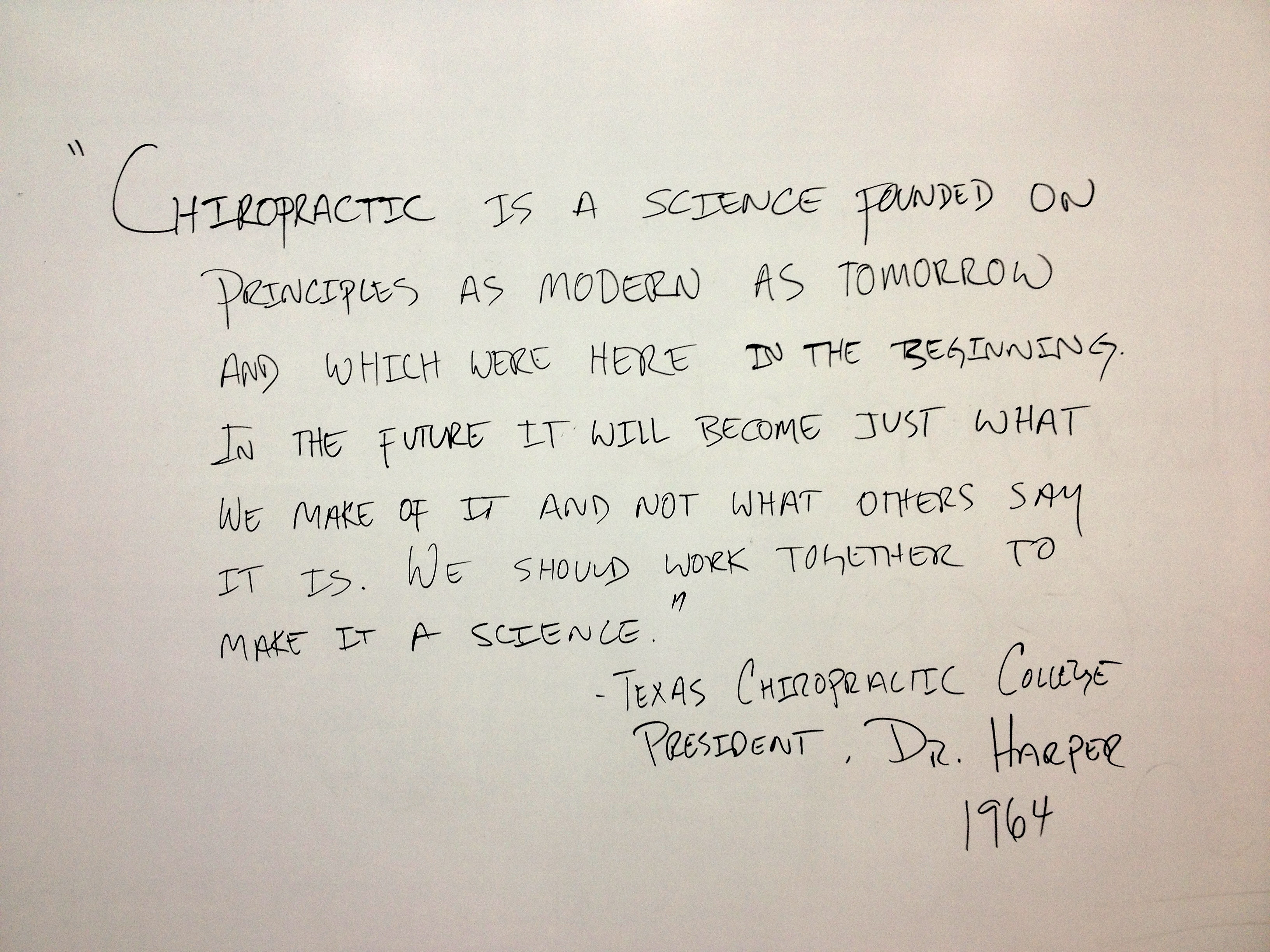 Chiropractic Whiteboard Quotes. QuotesGram