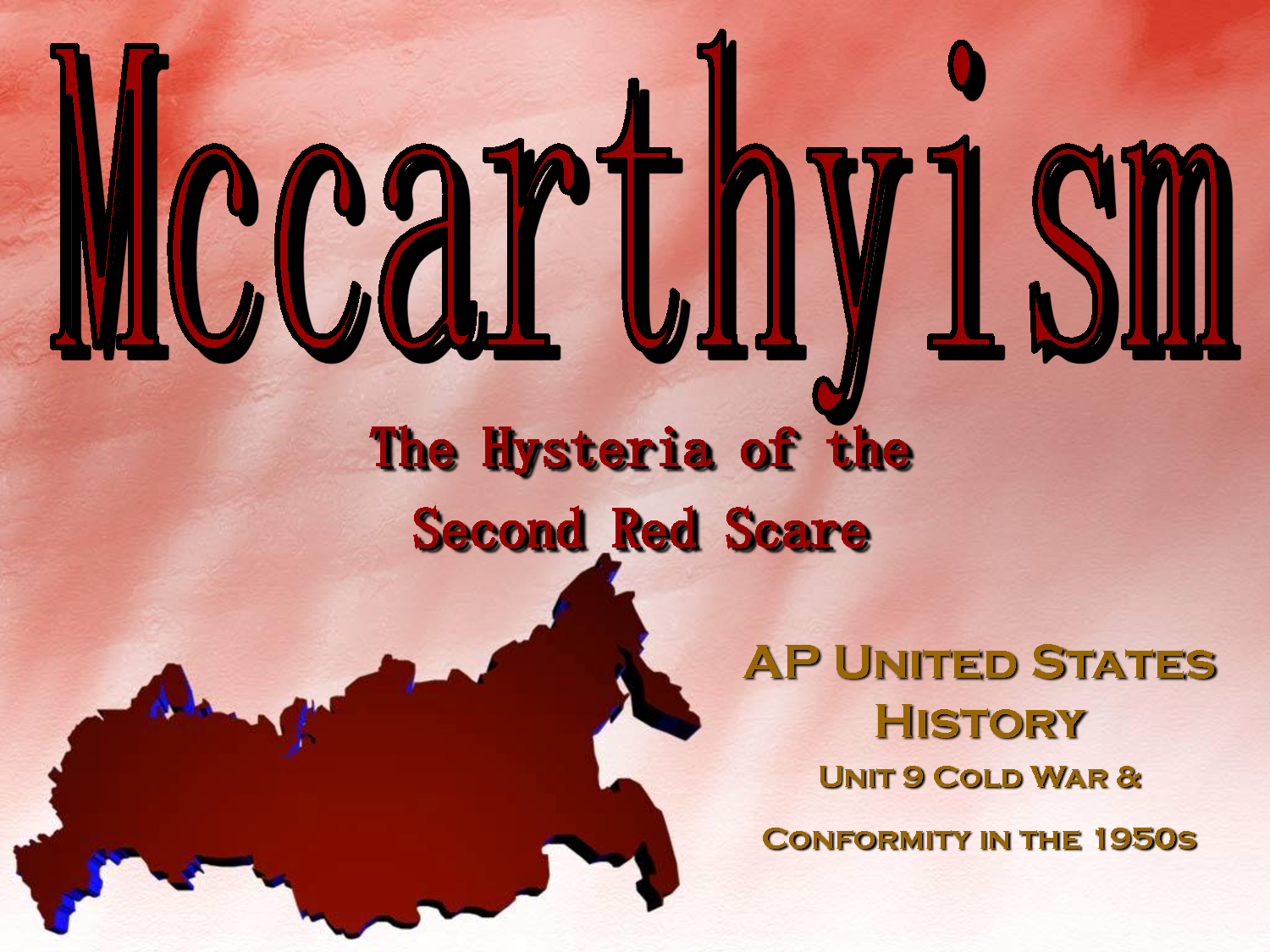 mc carthyism and the media essay