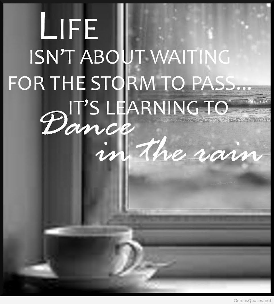 Life Isnt About Waiting For The Storm Quote