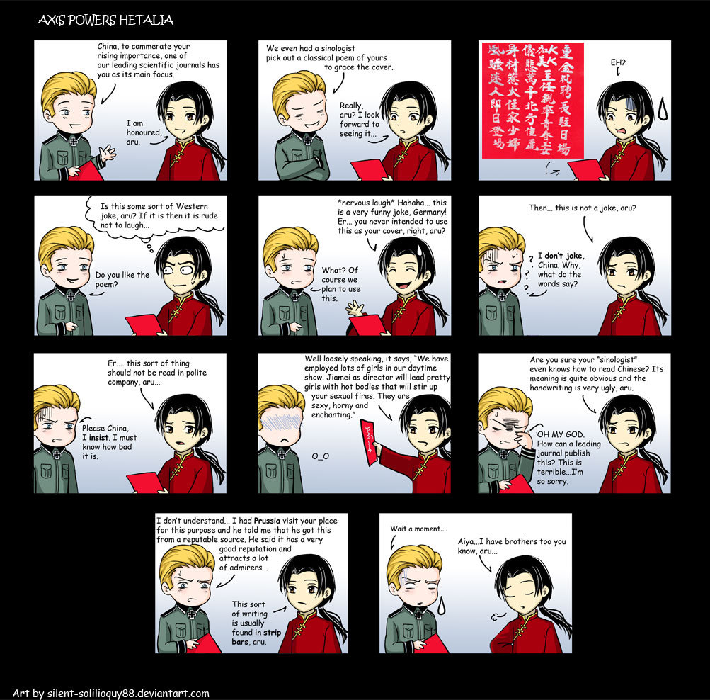 Free Comic Book Day Germany: China Hetalia Funny Quotes. QuotesGram