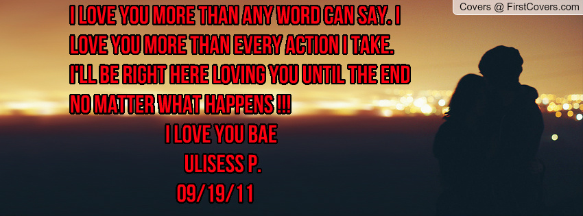 I Love You More Than Quotes: When Bae Say I Love You Quotes. QuotesGram