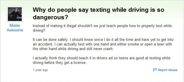 Texting And Driving Quotes