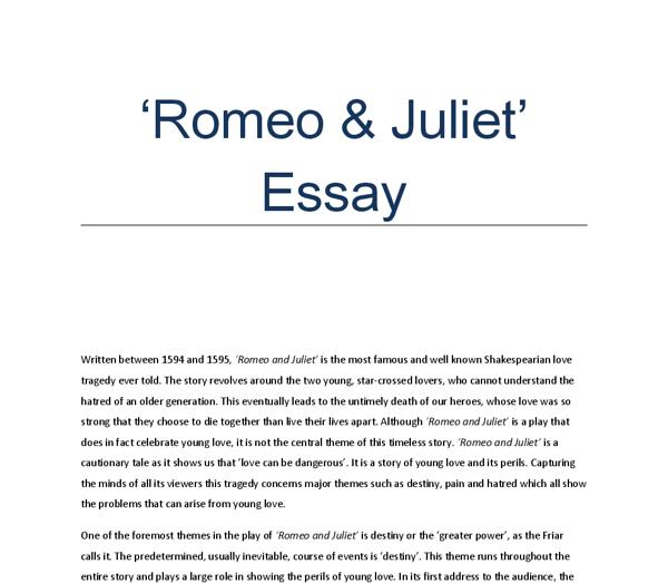 destiny and tragedy essay