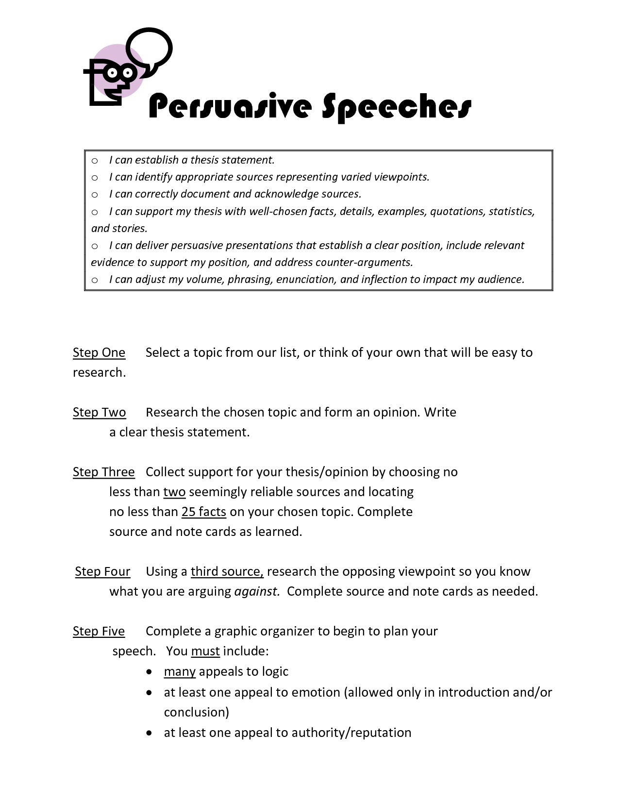 thesis statement of persuasive essay To use thesis builder, you'll need: once you've got a thesis statement, use the make an online outline button to generate the framework for your essay.