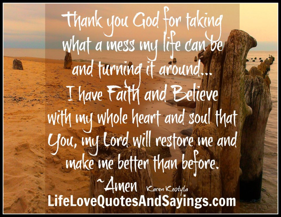Thank You God Quotes And Sayings. QuotesGram