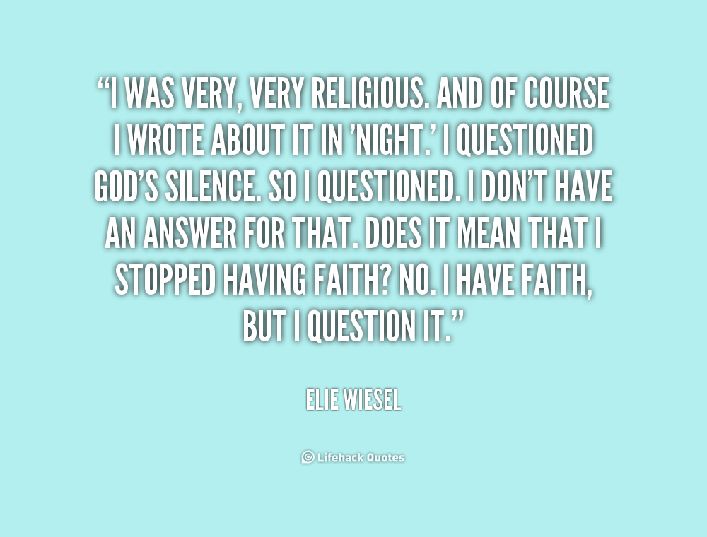 At what point do you feel Elie loses his faith in God? What are some examples?
