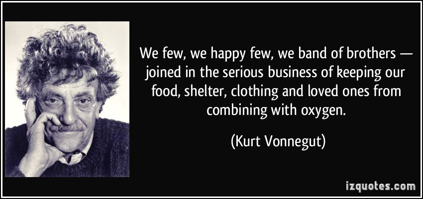 the daily struggles in life in cats cradle by kurt vonnegut Kurt vonnegut got the idea for cat's cradle while  in cat's  cradle's fictional world history, dr felix hoenikker is a nobel prize.