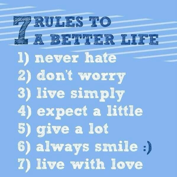 Simple Rules For A Healthy Life Share And Spread The: Inspire Me To Be Better Quotes. QuotesGram