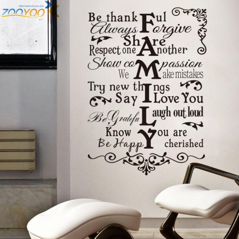 Vector Family Rules Wall Quotes. QuotesGram