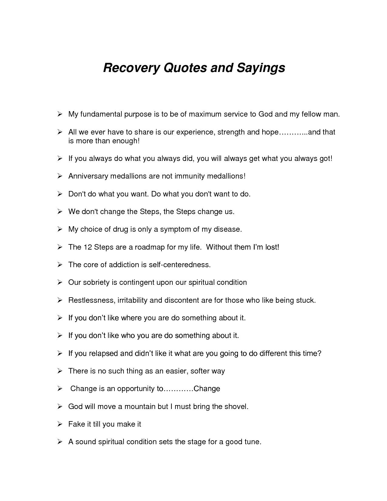 Addiction Recovery Quotes And Sayings. QuotesGram