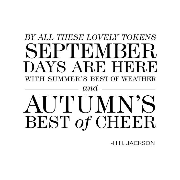 September Quotes Autumn Quotesgram