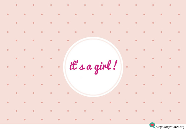 Baby Girl Coming Soon Quotes Quotesgram: Its A Girl Quotes. QuotesGram