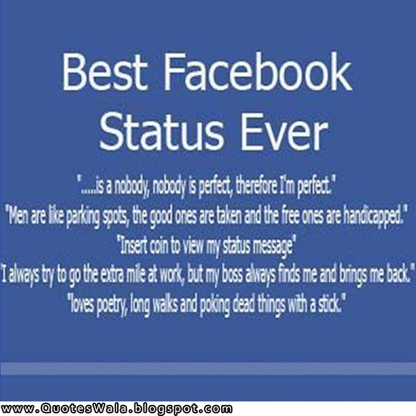 Funny Facebook Status Updates Search Quotes Image Quotes: Daily Quotes For Facebook Status. QuotesGram