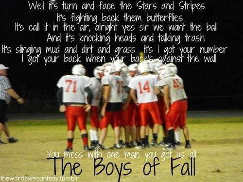 boys of fall football quotes quotesgram