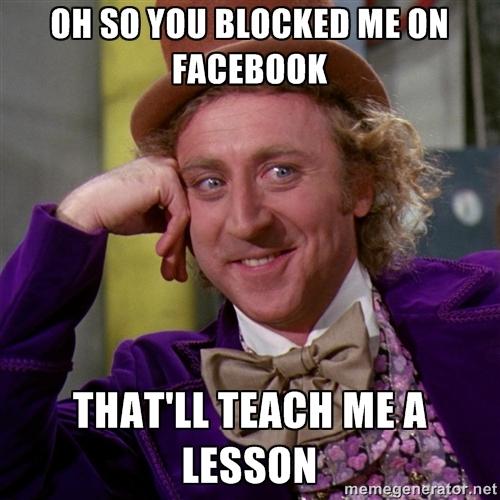 Meme did you block me Meme Generator