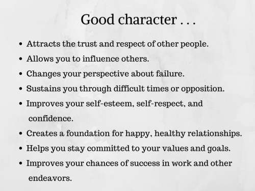 quotes about good character traits  quotesgram