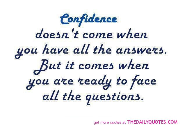 Confidence Quotes And Sayings Quotesgram