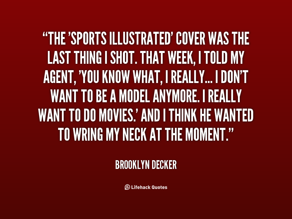 Illustrated Book Cover Quote : Sports illustrated quotes quotesgram