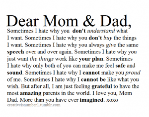 Dear Parent Letter Ending