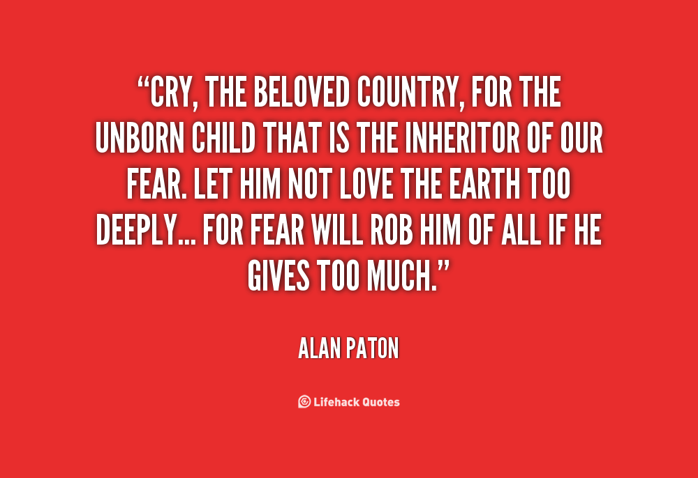 essay about cry the beloved country College essay writing service question description in cry, the beloved country, alan paton depicts a south africa that is plagued by a host of [.