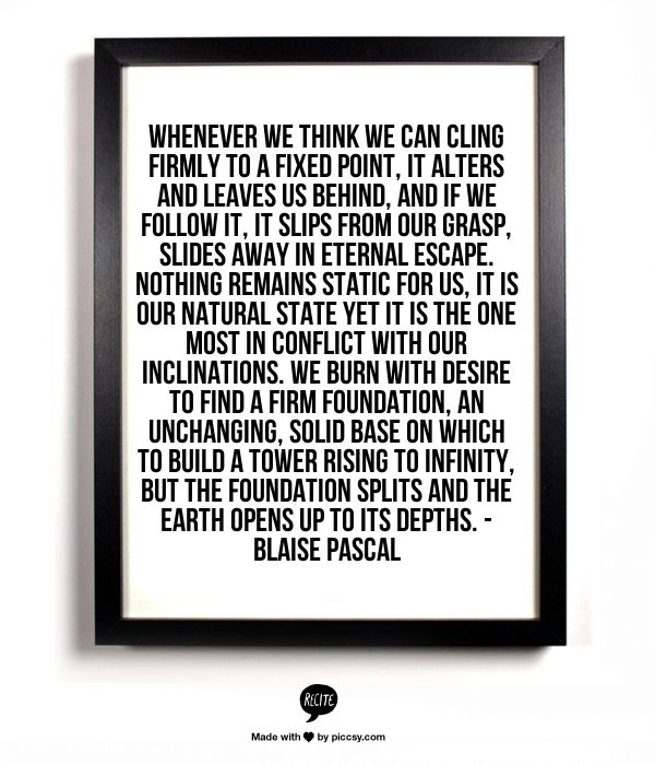 Pensees Blaise Pascal Quotes Quotesgram