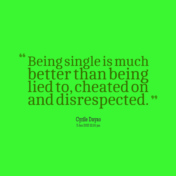 About being lied to and cheated on