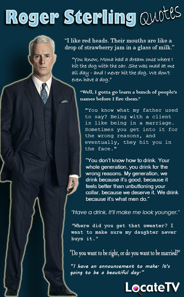 Roger Sterling Mad Men Quotes QuotesGram