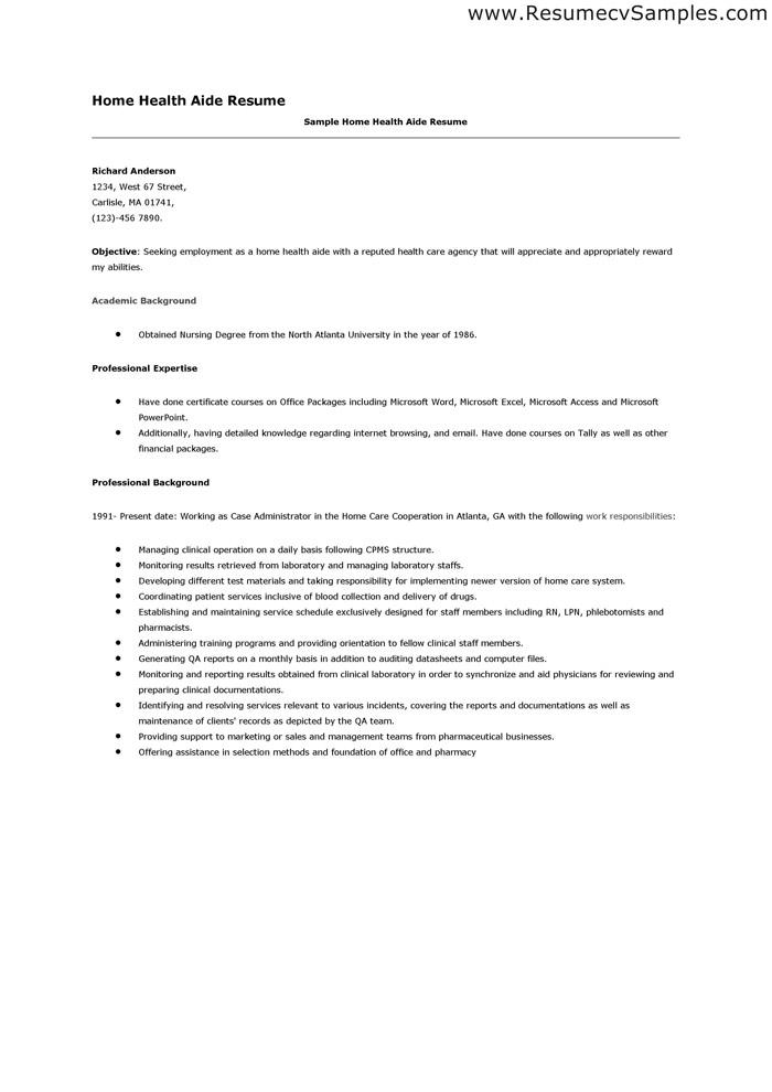 home health aide resume home health aide resume samples visualcv - Home Health Aide Resume