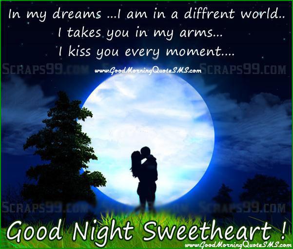 Wish goodnight to girlfriend