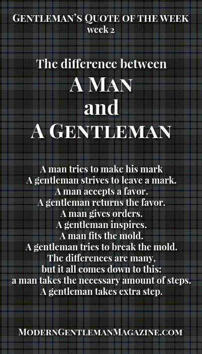 Quote gentlemen gentleman My Idea