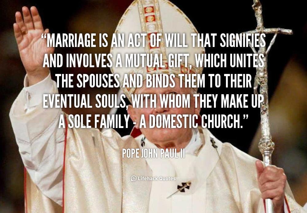 John paul ii marriage quotes