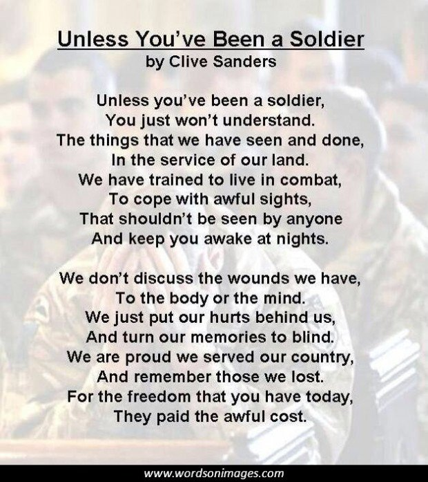 military thank you poems