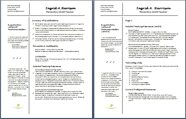 Teacher Resume Templates With Quotes. QuotesGram
