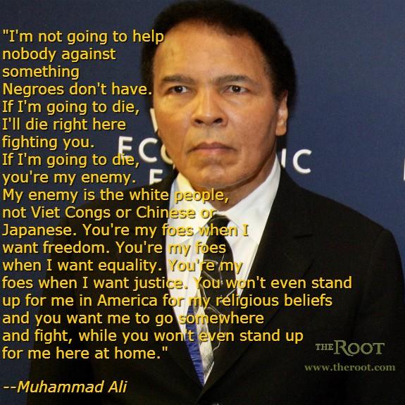 Muhammad Ali Quotes On Racism Quotesgram