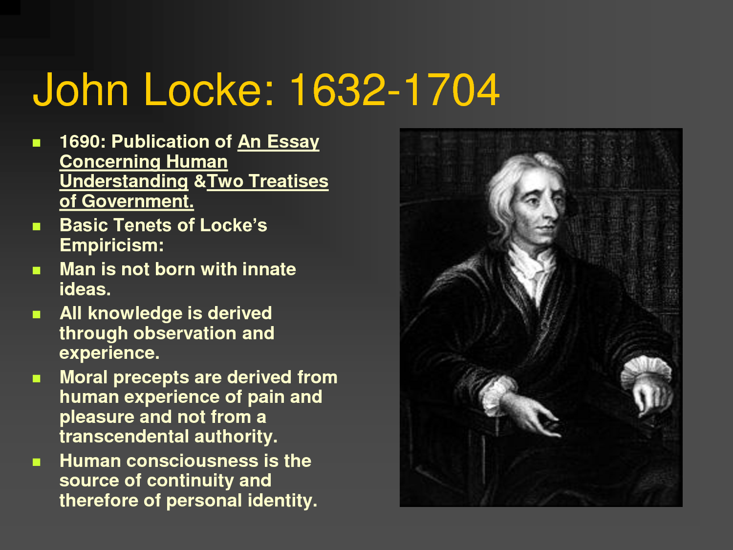The theories of human nature proposed by thomas hobbes john locke and jean jacques rousseau