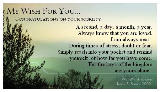 Congratulations Quotes For Sobriety Quotesgram