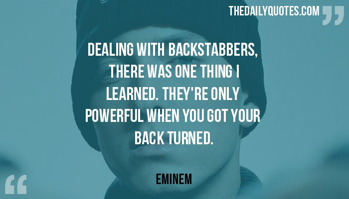 Inspirational Quotes On Backstabbers. QuotesGram