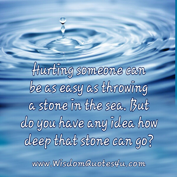 Quotes About The Deep End: Quotes Stones In Water. QuotesGram